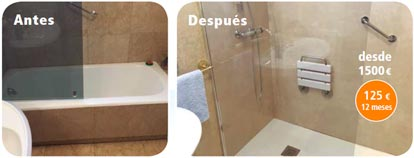 cambio banera por ducha